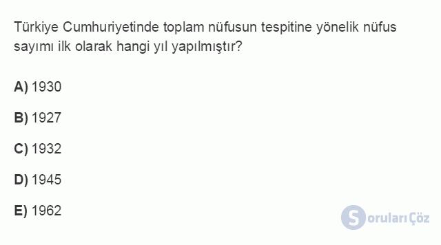 İKT402U 1. Ünite Türkiye Ekonomisinin Temel Özellikleri ve Dünya Ekonomisindeki Yeri Testi II 2. Soru