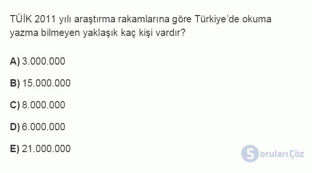 İKT402U 1. Ünite Türkiye Ekonomisinin Temel Özellikleri ve Dünya Ekonomisindeki Yeri Testi II 8. Soru