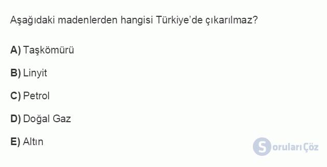 İKT402U 1. Ünite Türkiye Ekonomisinin Temel Özellikleri ve Dünya Ekonomisindeki Yeri Testi III 14. Soru