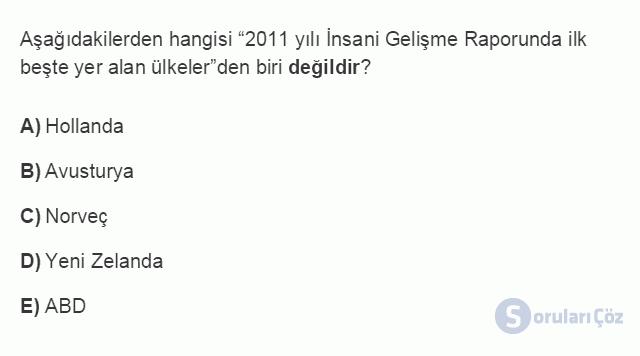 İKT402U 1. Ünite Türkiye Ekonomisinin Temel Özellikleri ve Dünya Ekonomisindeki Yeri Testi III 7. Soru