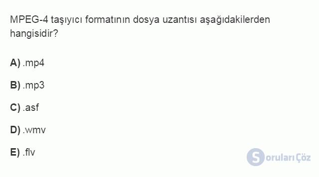 BİL102U 3. Ünite Özel Uygulama Yazılımları Testi I 7. Soru