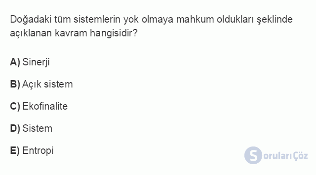 İŞL107U 2. Ünite İşletme Çevresi Testi II 9. Soru