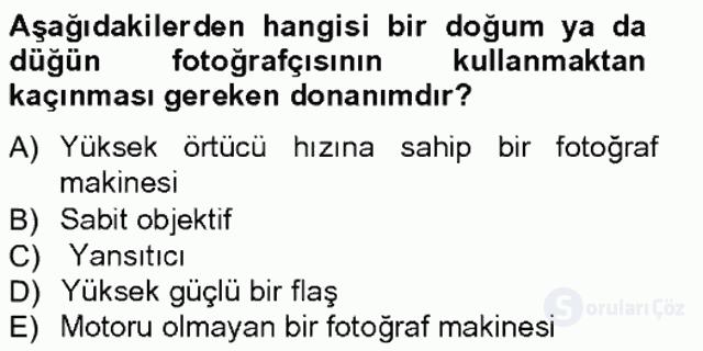 Fotoğrafın Kullanım Alanları Tek Ders Sınavı 10. Soru