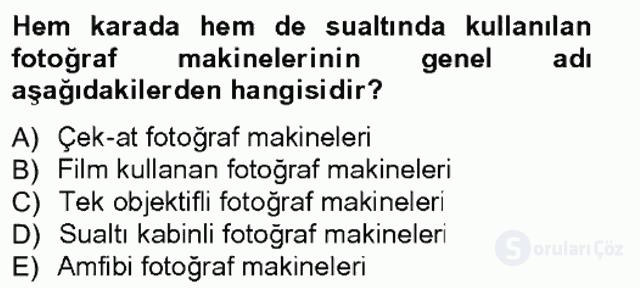 Fotoğrafın Kullanım Alanları Tek Ders Sınavı 6. Soru