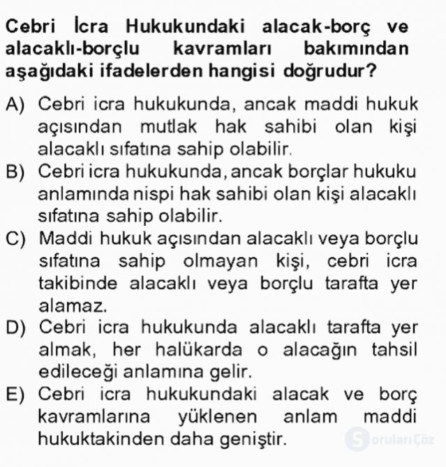 İşletme Hukuku Tek Ders Sınavı 20. Soru