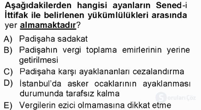 Türk Anayasa Hukuku Tek Ders Sınavı 2. Soru