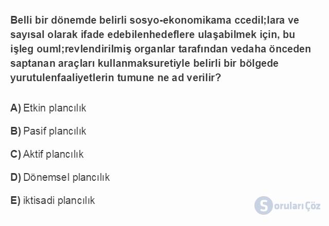 TRZ201U 8. Ünite Türkiye'de Turizm Testi I 15. Soru