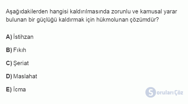 HUK101U 3. Ünite Hukuk Sistemleri ve Türk Hukuk Tarihi Testi I 17. Soru