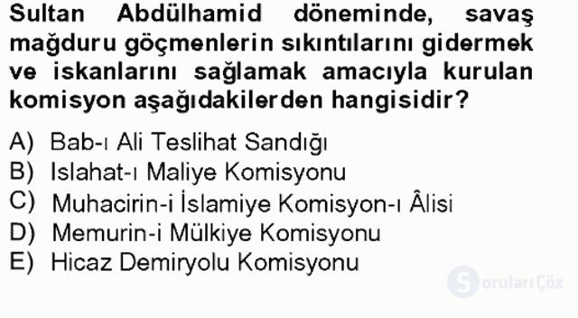 Türk İdare Tarihi Tek Ders Sınavı 15. Soru
