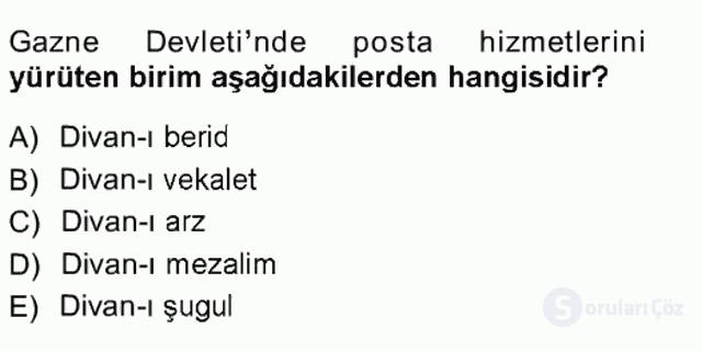 Türk İdare Tarihi Tek Ders Sınavı 5. Soru