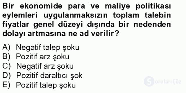 Para Politikası Tek Ders Sınavı 7. Soru