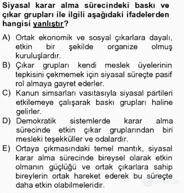 Kamu Ekonomisi II Tek Ders Sınavı 6. Soru