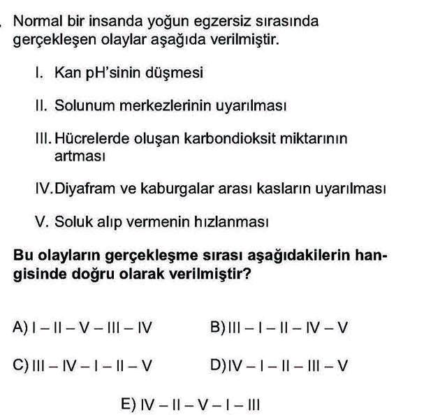 LYS Biyoloji Soruları 15. Soru