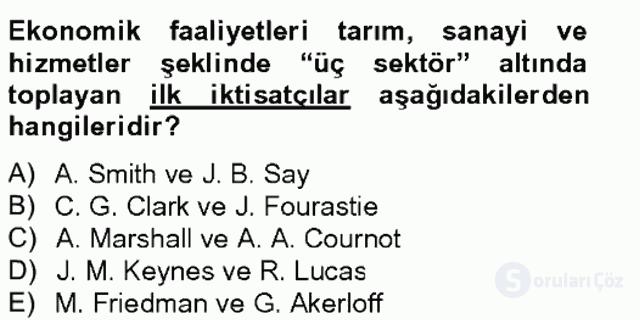 Türkiye Ekonomisi Tek Ders Sınavı 13. Soru