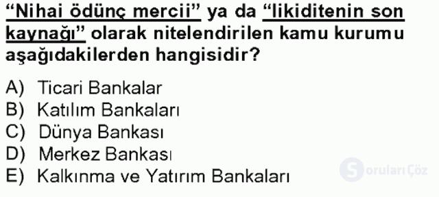 Türkiye Ekonomisi Tek Ders Sınavı 15. Soru