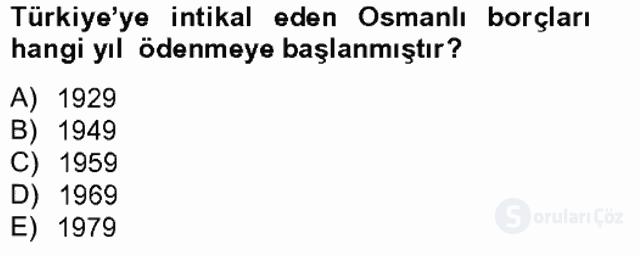 Türkiye Ekonomisi Tek Ders Sınavı 19. Soru