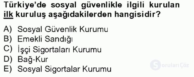 Türkiye Ekonomisi Tek Ders Sınavı 2. Soru
