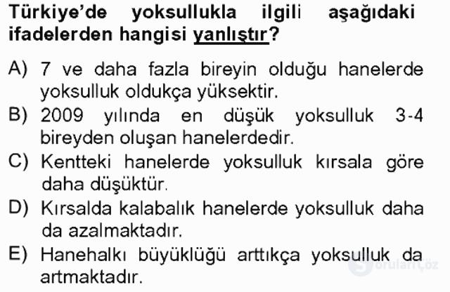 Türkiye Ekonomisi Tek Ders Sınavı 4. Soru