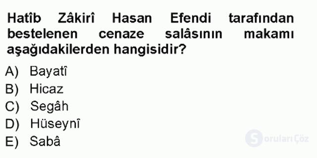 İslâm Sanatları Tarihi Tek Ders Sınavı 18. Soru