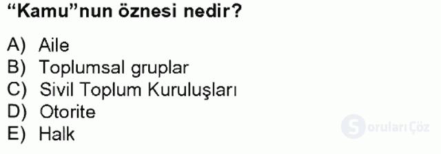 Din Sosyolojisi Tek Ders Sınavı 12. Soru
