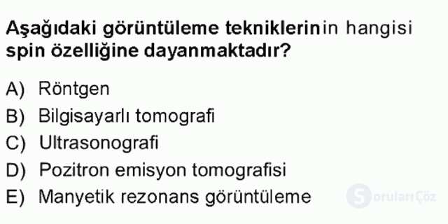 Hücre Kimyası Tek Ders Sınavı 7. Soru