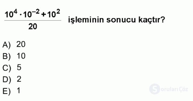 Matematik I Tek Ders Sınavı 7. Soru