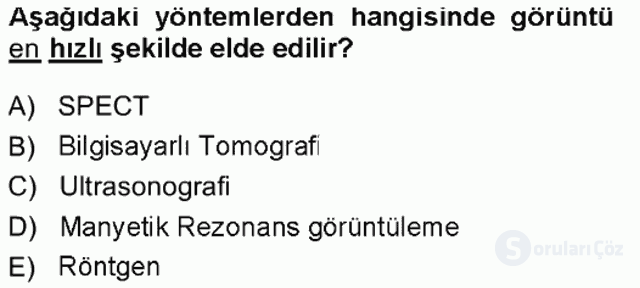 Tıbbi Terminoloji Tek Ders Sınavı 17. Soru
