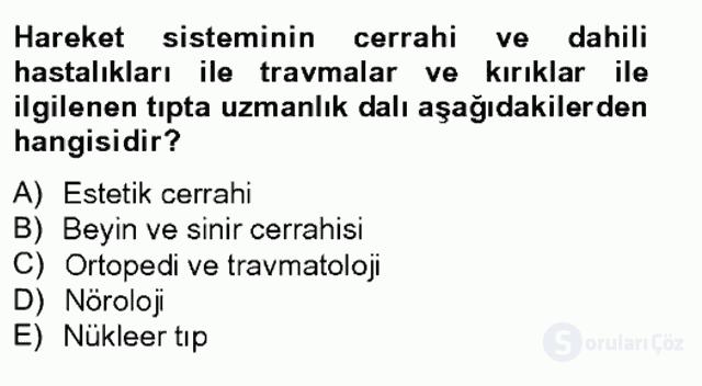 Sağlık Kurumları Yönetimi II Tek Ders Sınavı 4. Soru
