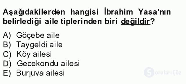 Türk Sosyologları Tek Ders Sınavı 11. Soru