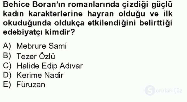 Türk Sosyologları Tek Ders Sınavı 9. Soru