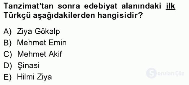 Türkiye'de Sosyoloji Tek Ders Sınavı 3. Soru