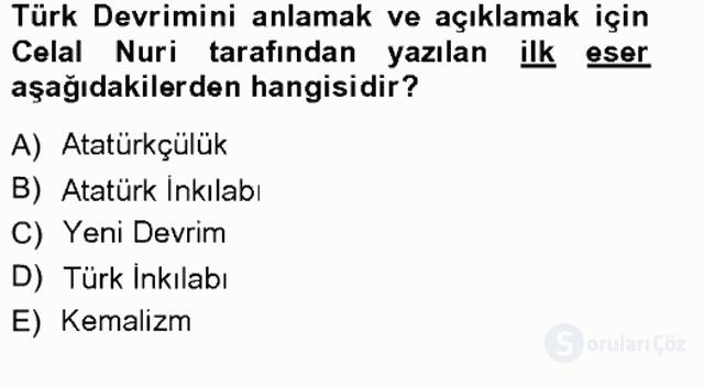 Türkiye'de Sosyoloji Tek Ders Sınavı 8. Soru