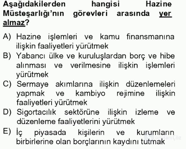 Türkiye'nin Toplumsal Yapısı Tek Ders Sınavı 11. Soru