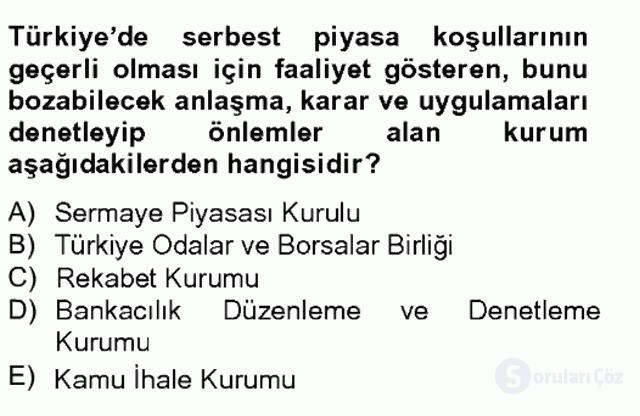 Türkiye'nin Toplumsal Yapısı Tek Ders Sınavı 12. Soru