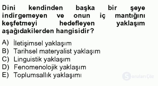 Türkiye'nin Toplumsal Yapısı Tek Ders Sınavı 14. Soru