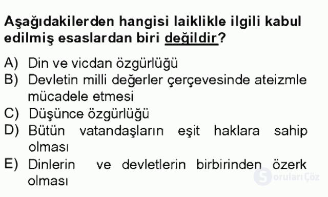 Türkiye'nin Toplumsal Yapısı Tek Ders Sınavı 15. Soru