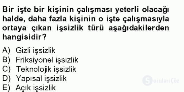 Türkiye'nin Toplumsal Yapısı Tek Ders Sınavı 20. Soru