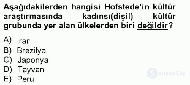 Türkiye'nin Toplumsal Yapısı Tek Ders Sınavı 4. Soru