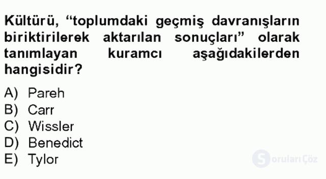 Türkiye'nin Toplumsal Yapısı Tek Ders Sınavı 5. Soru