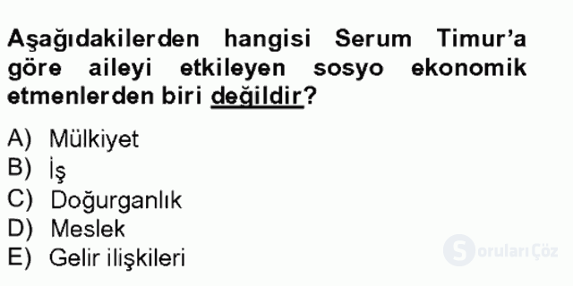 Türkiye'nin Toplumsal Yapısı Tek Ders Sınavı 7. Soru