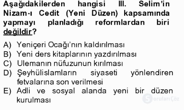 Atatürk İlkeleri ve İnkılap Tarihi I Tek Ders Sınavı 1. Soru