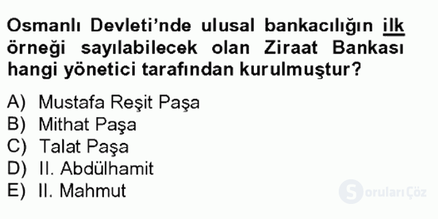 Atatürk İlkeleri ve İnkılap Tarihi I Tek Ders Sınavı 17. Soru