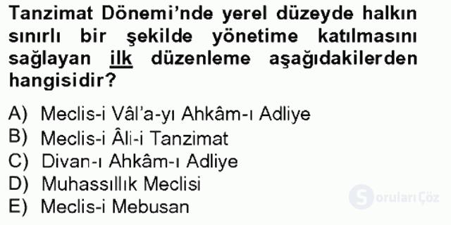 Atatürk İlkeleri ve İnkılap Tarihi I Tek Ders Sınavı 3. Soru