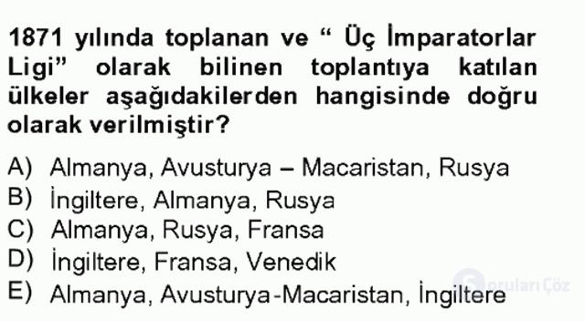 Atatürk İlkeleri ve İnkılap Tarihi I Tek Ders Sınavı 7. Soru
