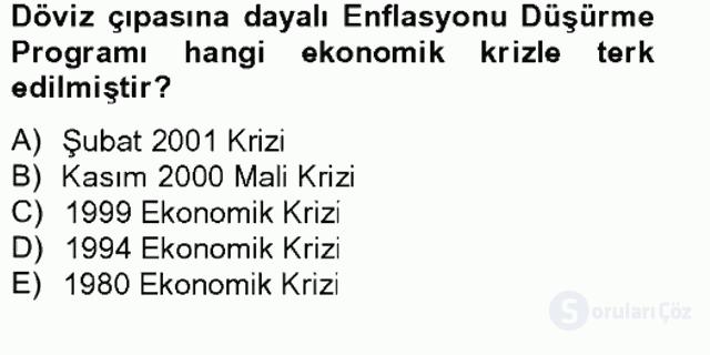 Atatürk İlkeleri ve İnkılap Tarihi II Tek Ders Sınavı 11. Soru