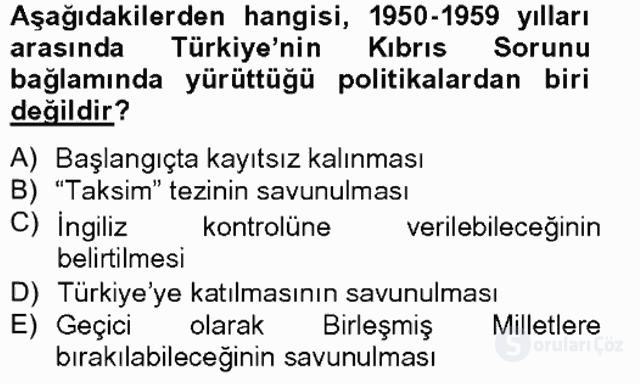 Atatürk İlkeleri ve İnkılap Tarihi II Tek Ders Sınavı 14. Soru