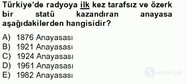 Atatürk İlkeleri ve İnkılap Tarihi II Tek Ders Sınavı 20. Soru