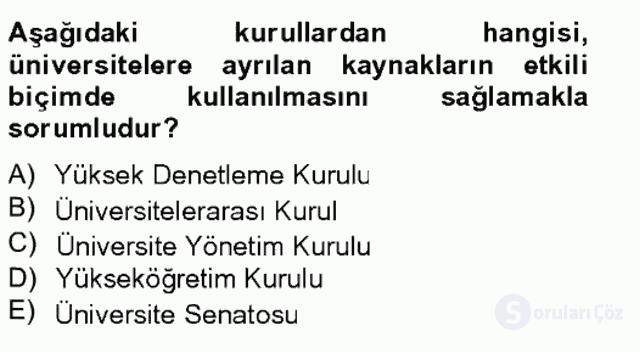 Türk Eğitim Tarihi Tek Ders Sınavı 17. Soru