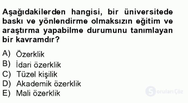 Türk Eğitim Tarihi Tek Ders Sınavı 18. Soru