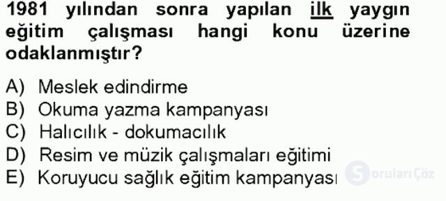 Türk Eğitim Tarihi Tek Ders Sınavı 19. Soru